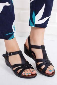 Sandale Aboli negre cu talpa ortopedica