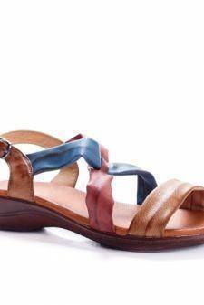Sandale Adomila maro cu talpa joasa
