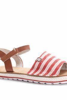 Sandale Bagasi rosii cu talpa joasa