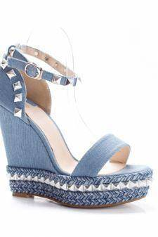 Sandale Bambina albastre deschis cu platforma
