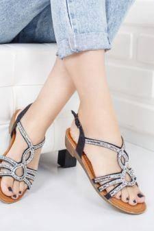 Sandale Bernal negre talpa joasa