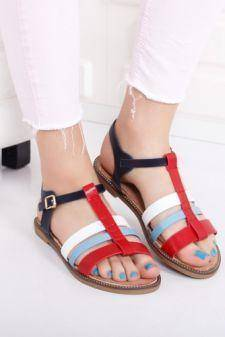 Sandale Blaizen multicolor cu talpa joasa