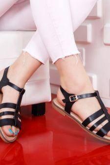 Sandale Blaizen negre cu talpa joasa