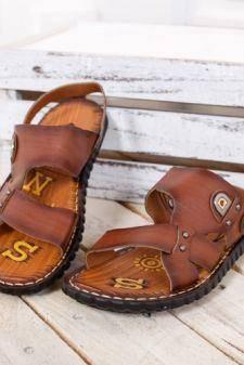 Sandale Burseco maro