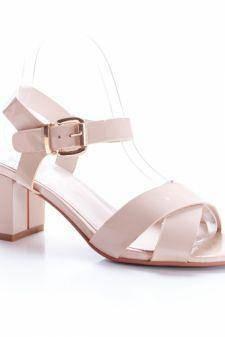 Sandale Busyol roz deschis cu toc gros