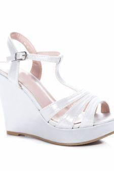 Sandale Celisa argintii cu platforma