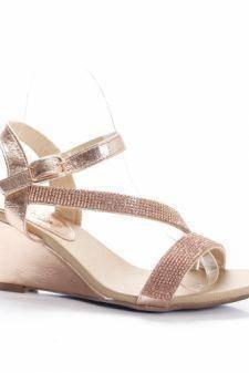 Sandale Cromisa aurii cu platforma