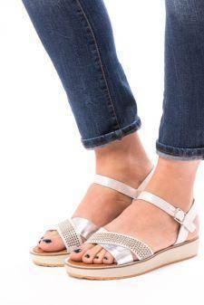 Sandale Dama Cu Bareta Rhinestones Silver