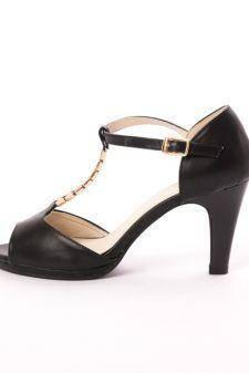 Sandale Dama Cu Toc Advice Negre
