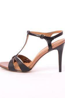 Sandale Dama Cu Toc Sunny Negre
