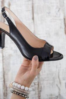Sandale Piele Lasibi negre