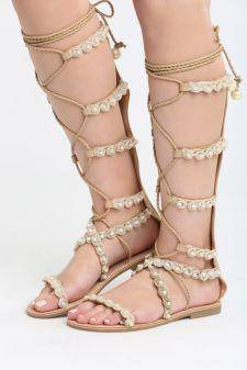 Sandale Romane Calypso Bej