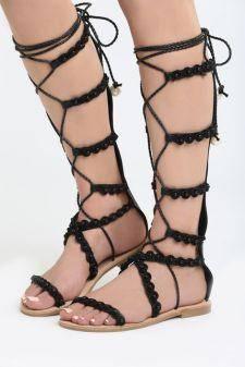 Sandale Romane Calypso Negre