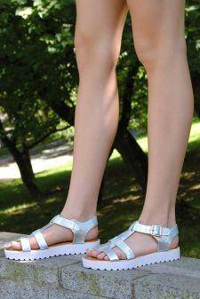 Sandale Summer s Here Silver