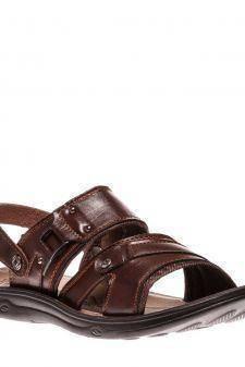 Sandale barbati Apolo negru cu maro