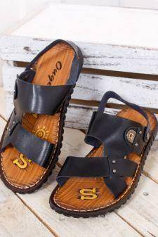 Sandale barbati Burseco negre