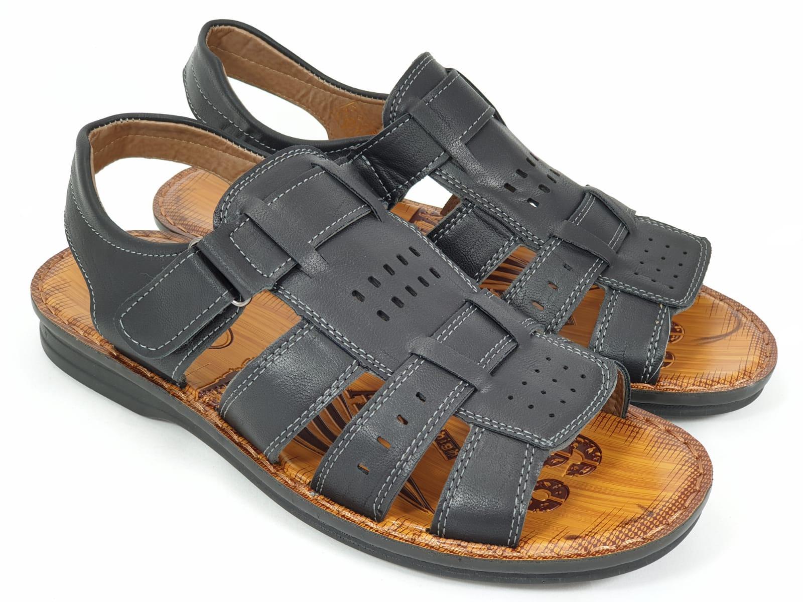 Sandale barbati negre Teodor
