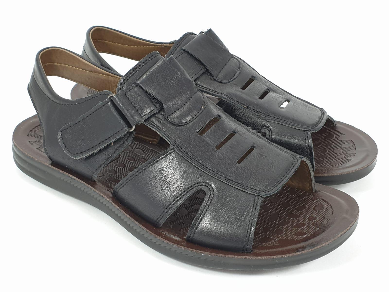 Sandale barbati negre Vali
