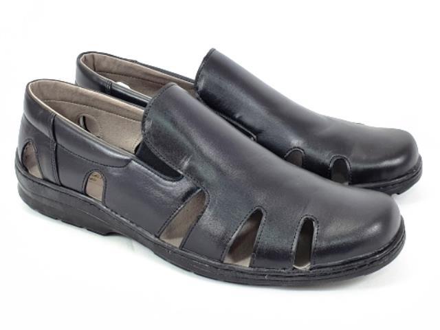 Sandale barbati piele negre Daniel