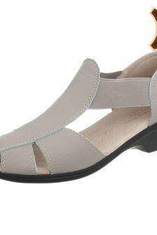 Sandale casual din piele naturala gri