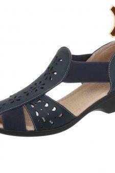 Sandale cu model perforat si insertii elastice