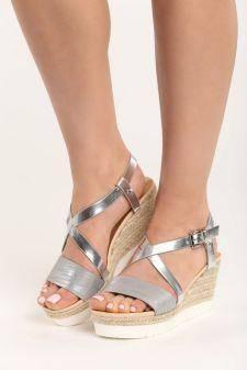Sandale cu platforma Alexis Gri