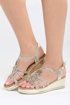 Sandale cu platforma Andaluzia Aurii