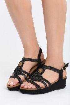 Sandale cu platforma Andaluzia Negre
