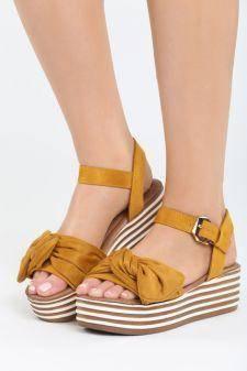 Sandale cu platforma Aneas Galbene