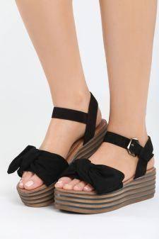 Sandale cu platforma Aneas Negre