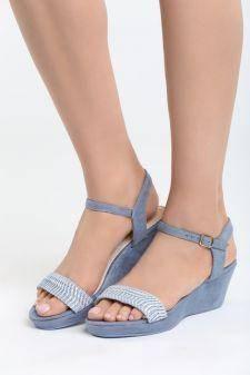 Sandale cu platforma Aracena Albastre