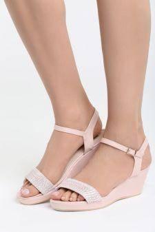 Sandale cu platforma Aracena Roz