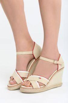 Sandale cu platforma Araxa Bej