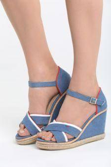 Sandale cu platforma Araxa Blue