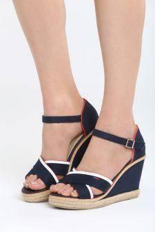 Sandale cu platforma Araxa Navy