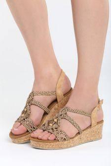 Sandale cu platforma Arcana Maro