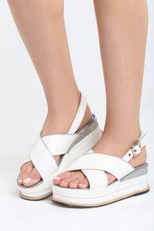 Sandale cu platforma Ardisa Albe