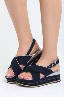 Sandale cu platforma Ardisa Navy
