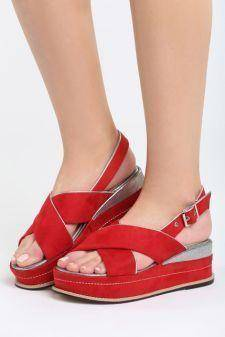 Sandale cu platforma Ardisa Rosii