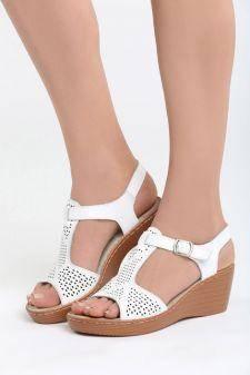 Sandale cu platforma Audacity Albe