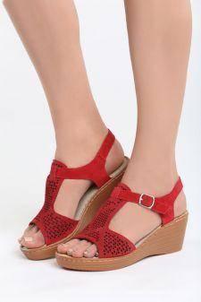 Sandale cu platforma Audacity Rosii