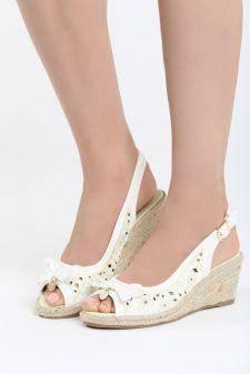 Sandale cu platforma Balsas Albe