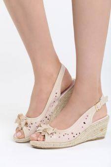 Sandale cu platforma Balsas Bej
