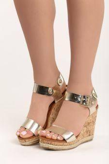 Sandale cu platforma Bianca Aurii