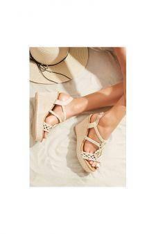 Sandale cu platforma Camerota Bej