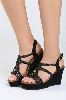 Sandale cu platforma Camerota Negre