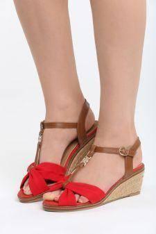 Sandale cu platforma Camopi Rosii