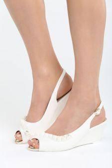 Sandale cu platforma Childish Albe
