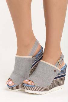 Sandale cu platforma Christen Gri