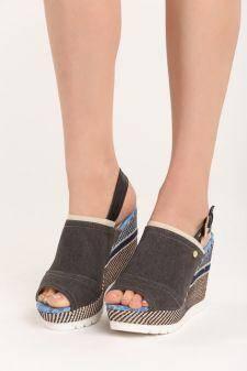 Sandale cu platforma Christen Negre
